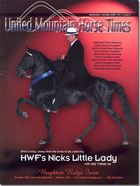 HWF's Nicks Little Lady